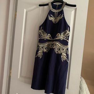 Lilly Pulitzer NWT Benita Dress S4 True Navy